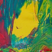 Dschungellichtung, Gouachefarben auf Papier, 2005