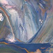 Wasserfall, Gouachefarben auf Papier, 2005