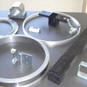 Bauteile nach mechanischer Bearbeitung