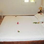 Suite Rose de Sable:  La salle de bain comporte une douche et le WC est indépendant.