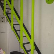 escalier accès mezzanine