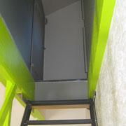 arrivée escalier avec portillon