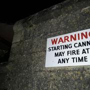 Warnung für Spaziergänger