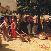 Contadini al mercato dentro le mura del castello - Farmers to the market inside the castle walls