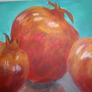 Stilleben mit Granatäpfeln 2008