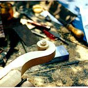fabrication d'une tête de violon