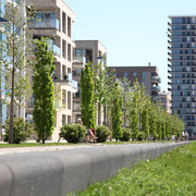 Moderne Wohngebäude mit Weserblick