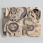 """Wooden Animals """"Africa"""" von Mini Empire"""