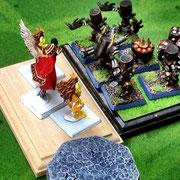 防御力特盛のマシーナリユニットに「アーク」さんが組み付いた。