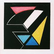 Jazzy-Huile + Acrylique sur Rhodoïde-A4