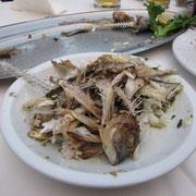Fischplatte danach