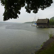 Lake at Seedorf while it´s raining