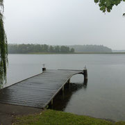 Lake at Seedorf while i´s raining