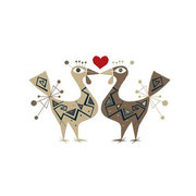 Verliebte Hühner