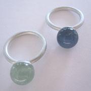 925/- Silber mit Beryll oder Chalzedon