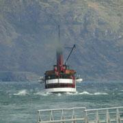 ..und ein Dampfschiff sind hier unterwegs