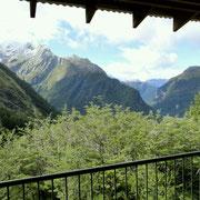 Ausblick von der Veranda der Hütte