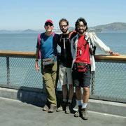 Alcatraz, im Hintergrund, sehen wir nur aus der Ferne