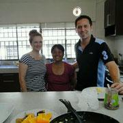 Meine Gastgeber:Vangi, Emma und Mike