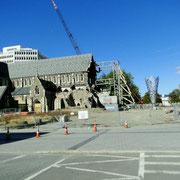 Cathedral Square, von der Kathedrale stehen nur Reste