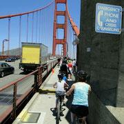 """Reger Verkehr auf der """"Golden Gate Bridge"""""""