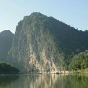 Kurz vor der Muendung des Mekong