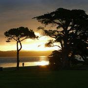 Clarks Bay mit einem schönen Sonnenuntergang