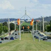 Blick auf das Regierungsgebäude
