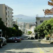 Eine typische Steaße in San Francisco