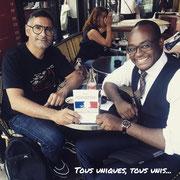"""04/07/18: Avec le grand frère, monsieur Rachid Santaki, le (vrai) créateur de la """"Dictée des cités"""".  Un grand homme de conviction qui fait tant pour la jeunesse et inspire nombre d'acteurs de terrain depuis des années."""