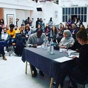 26/01/19: Yaka Pitch 2019 à Paris. Abel Boyi, président de FR faisait partie du jury qui évaluait les différents projets présentés par les jeunes ce jour.