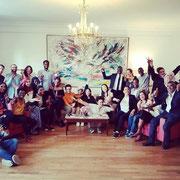 """10/07/19: À la rencontre """"Yes Akademia"""" dans un des salons de l'assemblée nationale (le salon de la Questure) avec les jeunes et Patrice Anato, député LREM de la 3e circonscription de la Seine-Saint-Denis."""