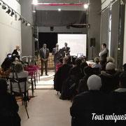 09/03/18: Intervention avec notre partenaire, monsieur Stéphane Tiki, lors de la conférence de l'association ACADOM visant à rendre hommage à la femme au théâtre Rutebeuf à Clichy-la-Garenne (92).
