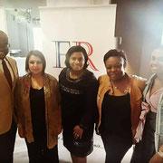 Avec les intervenantes du forum d'inclusion civique sur la citoyenneté de la femme le 15/10/17. Mesdames Nadoi Hadri, Jocelyne Goma, Patricia Éketebi et Cécilia Lokange.