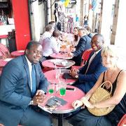 11/07/19: Avec Annick Le Ridant et Stephane Tiki à Paris. Préparation d'un big event pour très prochainement avec la prestigieuse fondation Rochas.