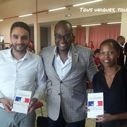 25/06/18: Avec madame Sandra Ribeiro Tavares (championne de saut à la perche - co-fondatrice de Perfé-O) et monsieur Jawad El Hajri (footballeur international marocain - entrepreneur) qui ont répondu positivement à notre invitation.