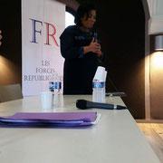 Intervention de madame Jocelyne Goma, cheffe d'entreprise, lors du forum d'inclusion civique sur la citoyenneté de la femme le 15/10/17.