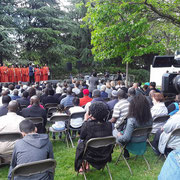 """10/05/18: Commémoration de l'abolition de l'esclavage à Clichy-la-Garenne avec la ghorale """"Total Praise""""."""