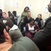 Lors de notre forum d'inclusion professionnelle sur l'employabilité des jeunes dans les locaux de l'associations ESSE (Paris 19ème) le 07/12/17.