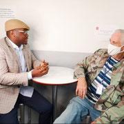 18/08/20: Locaux de Canal Plus, Boulogne (92), interview de Georges Eddy, la voix du basket pour le prochain forum FR du 24 août 2020