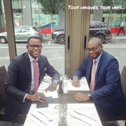22/08/18: Avec notre partenaire économique, Monsieur Christian Keita, un homme aussi discret qu'influent...