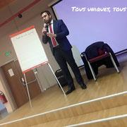 26/11/18: Rudy Kazi lors du forum d'inclusion civique FR sur comment aborder une jeunesse tentée par la radicalisation.