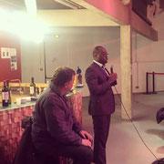 17/04/19: Ici avec Alexandre Jardin durant l'intervention d'Abel Boyi lors du festival des conversations.