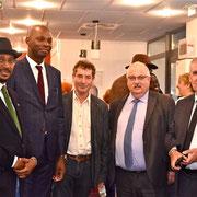 12/10/18: En compagnie du député de la circonscription, monsieur Alain David et du Maire de Cenon, monsieur Jean-François Egron,