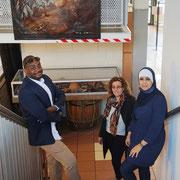 07/07/20: Ce jour à Creil à la maison Creilloise des associations.  Ici en compagnie de l'association Femmes SansFrontières, représentée par Mesdames Hafida et Faïza. Préparation d'un programme jeunesse.