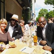 06/06/19: Réunion pour la fondation Centaure avec Annick Le Ridant et Stéphane Tiki. Préparation d'événements à venir.