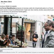 """04/09/18:Merci à """"Bleu-Blanc-Zèbre"""" pour cette mise en avant du jour sur l'ensemble de leurs réseaux sociaux. Ce soutien constitue un encouragement certain à notre démarche.  Et accessoirement merci pour l'appellation """"Zèbre du mardi"""" 😏🤣😂"""