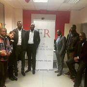 Les intervenants de notre forum d'inclusion professionnelle sur l'employabilité des jeunes dans les locaux de l'associations ESSE (Paris 19ème) le 07/12/17.