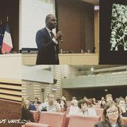 """14/06/18: A l'assemblée nationale pour la projection du documentaire """"Les Travailleurs chinois de la grande guerre"""" (du réalisateur Karim Houfaïd) suivit d'un débat auquel le vice-président, monsieur Rudy Kazi, est intervenu."""