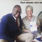 """02/09/18: Avec notre partenaire, madame Latifa Bennari, présidente de l'association """"L'Ange bleu"""". Nous venons de finir un tournage pour un projet dont vous serez mis au fait dans les jours à venir..."""